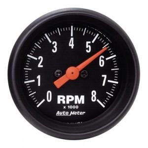 Autometer Z-Series Black 2 1/16 inch 8,000 RPM Mini Tach