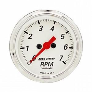 Autometer Arctic White 2 1/16inch 7,000 RPM Mini Tach